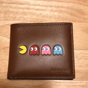 COACH Pac-Man ID Wallet Billfold Leather NWT